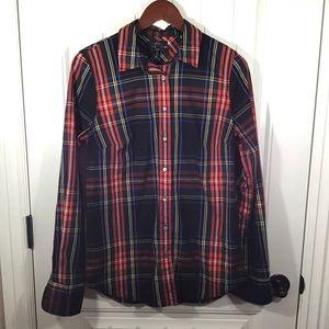 J Crew Tall Slim Perfect Shirt in Stewart Tartan.